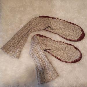 Acorn mens knee high slippers size 10 1/2